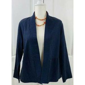 Eileen Fisher Womens Silk Kimono Open Front Jacket
